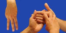 Letra M en sistema dactilológico táctil